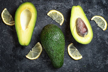 Avocado und Zitrone
