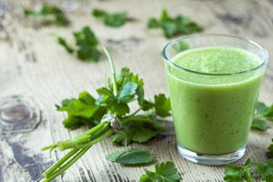 Grüner Smoothie selbstgemacht